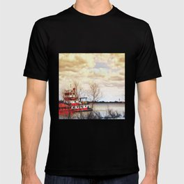 Barge on the Mississippi T-shirt