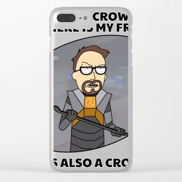 Mister Crowbar and his friend Clear iPhone Case