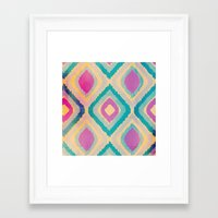 ikat Framed Art Prints featuring URBAN IKAT by Nika