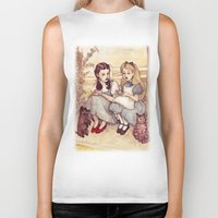 helen Biker Tanks featuring Dorothy and Alice by Helen Green