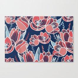 Papercut tulips Canvas Print