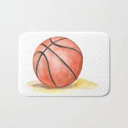 Basketball Watercolor Bath Mat