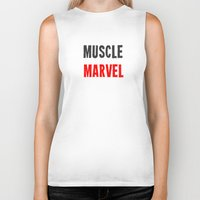 workout Biker Tanks featuring Workout Collection: Muscle by Kat Mun