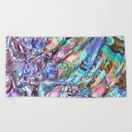 Shimmery Rainbow Abalone Mother of Pearl Beach Towel