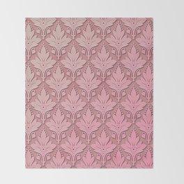 AMOROSO DAMASK - Beautiful Design - PINK PANACHE Throw Blanket