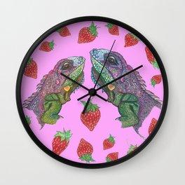 Iguana kisses Wall Clock