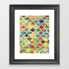 Colorful Scales Framed Art Print