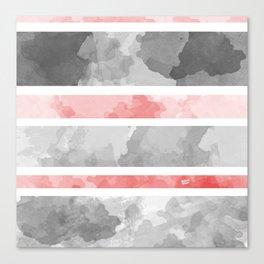 KIROVAIR MARBLE STRIPES #minimal #design #kirovair #decor #buyart #grey #pink #elements Canvas Print