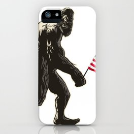 Hide and seek world champion USA Flag shirt bigfoot is real funny Tees iPhone Case