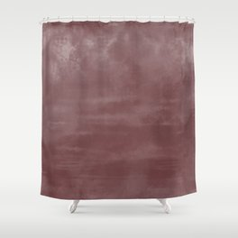 Burst of Color Pantone Red Pear Abstract Watercolor Blend Shower Curtain