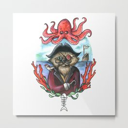 Captain Barnacles The Cat Metal Print