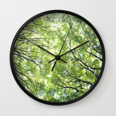 Green Maples Wall Clock