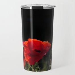 Red Poppies in bright sunlight Travel Mug