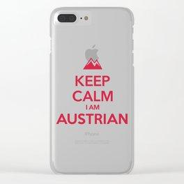 KEEP CALM I AM AUSTRIAN Clear iPhone Case