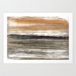 Shadow abstract watercolor Art Print
