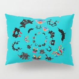 circle of Rorschach test Ink blots ! Pillow Sham
