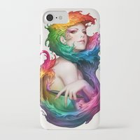 pen iPhone & iPod Cases featuring Angel of Colors by Artgerm™