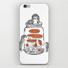 Hedgehog Amanita Mushroom iPhone Skin
