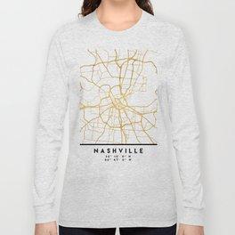 NASHVILLE TENNESSEE CITY STREET MAP ART Long Sleeve T-shirt