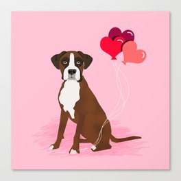 Boxer dog valentines day cute gifts must haves heart balloons boxers pure breed Canvas Print