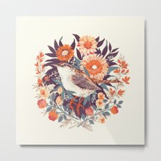 Wren Day Metal Print