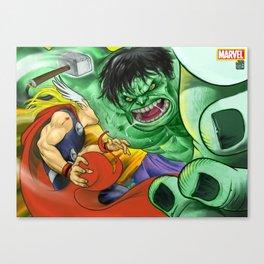 Thor v/s Hulk Canvas Print