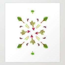 veggies 4 ever Art Print