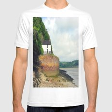 Dylan Thomas.The Boathouse. MEDIUM White Mens Fitted Tee