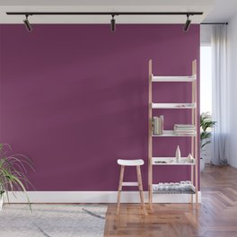 Dark Violet - Jam - Mulberry - Boysenberry Solid Color Parable to Pantone Glistening Grape 20-0113 Wall Mural