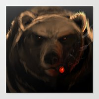 starcraft Canvas Prints featuring Smoking Bear by Rookzer0