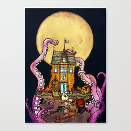 The Midnight Chateau Canvas Print