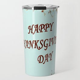 Happy Thanksgiving day postcard Travel Mug