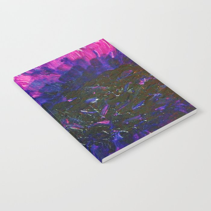 VACANCY - LIMITLESS Bold Eggplant Plum Purple Abstract Acrylic Painting Floral Macro Colorful Void Notebook