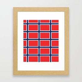 flag of norway Framed Art Print