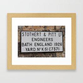 Stothert Framed Art Print