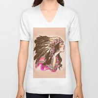 oklahoma V-neck T-shirts featuring Oklahoma  by Hollyce Jeffriess Designs