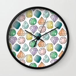 jewel tones Wall Clock