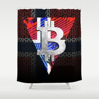 norway Shower Curtains featuring bitcoin Norway by seb mcnulty