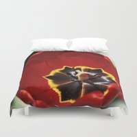 tulip Duvet Covers featuring Tulip by Charlene McCoy