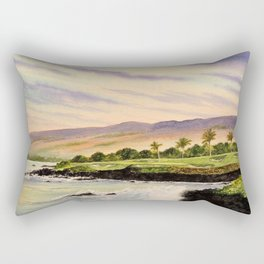 Mauna Kea Golf Course Hawaii Hole 3 Rectangular Pillow