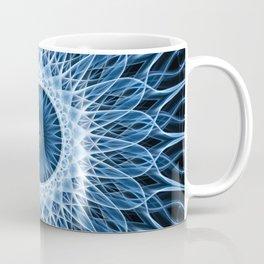Bright blue and white mandala Coffee Mug
