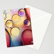 Colourful Oil Drops Stationery Cards
