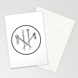 Lulu hairpins Stationery Cards