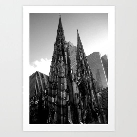 Black and White New YOrk Art Print