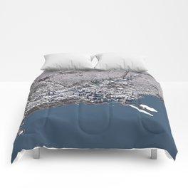 Chicago City Map II Comforters