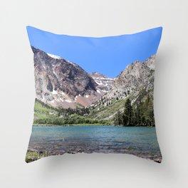 Parker Lake in Ansel Adams Wilderness, June Lake, California Throw Pillow