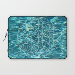 Flower of life in the water Laptop Sleeve