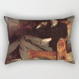 Vintage Painting of Robert Louis Stevenson (1887) Rectangular Pillow