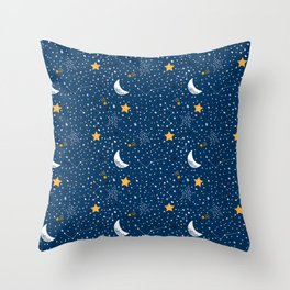night stars Prints patterns Throw Pillow