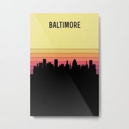 Baltimore Skyline Metal Print